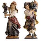 Winzerpaar Profane Holz Figur handbemalt  001