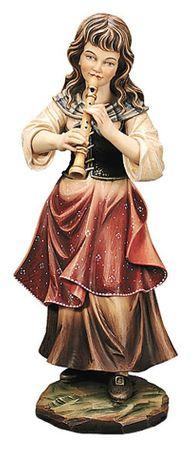 Flötenspielerin  Profane Holz Figur handbemalt