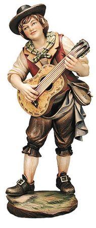Gitarrenspieler Profane Holz Figur handbemalt