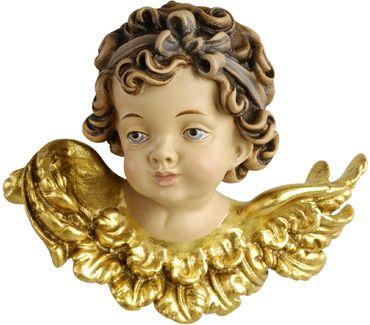 Engelfigur Blick rechts vergoldet Holzschnitzereien