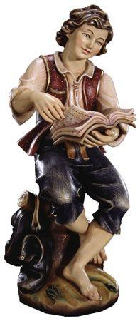 Junge mit Buch Profane Holz Figur handbemalt