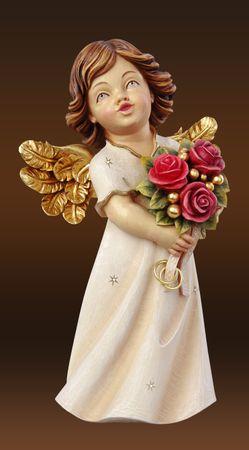 Hochzeitsengel mit Rosen Holzschnitzereien