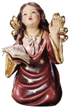 Engelfigur Chorengel mit Buch Holzschnitzerei