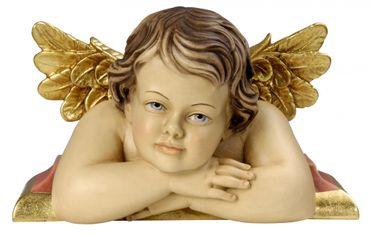 Putte Raffaello Engel auf Konsole Holz Figur handbemalt