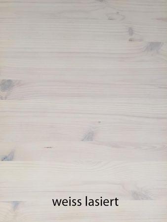 Massivholzbett Veranda Dahlhaus Kiefer weiß, natur, blau, schwarz, gelaugt – Bild 10