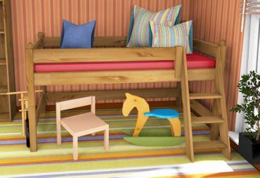 Spielbett Dahlhaus Stockholm 1 Kiefer gelaugt