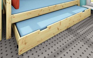 Gästebettkasten 90x190cm Kiefer weiß, blau, schwarz, natur – Bild 3