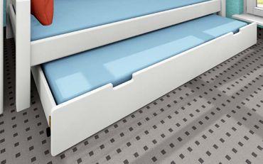 Gästebettkasten 90x190cm Kiefer weiß, blau, schwarz, natur – Bild 1