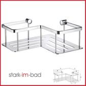 Bad Accessoires Smedbo Sideline Design Eckseifenkorb mit Bodenplatte - verchromt