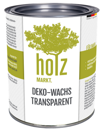 Deko-Wachs transparent