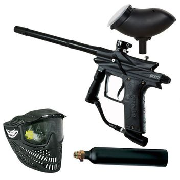 Azodin Blitz 3 Paintball Set - black