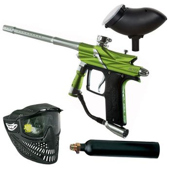 Azodin Blitz 3 Paintball Set - green/silver