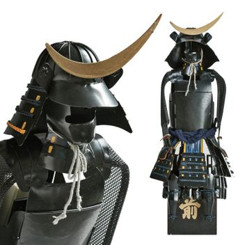 Samurai Warrior - black - Masamune Shogun Japanese Samurai Armor Miniature Statue