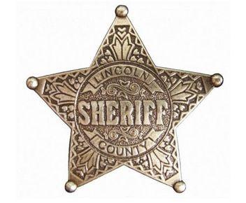 Abzeichen Sheriffstern Lincoln Country