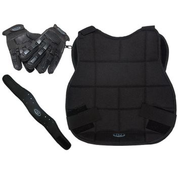 New Legion Paintball - Protection Kit black with Fullfinger Gloves