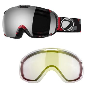 Dye Snow Goggle T1 Insight Scape / Smoke Silver Polarized + Ersatzglas Clear - Skibrille / Snowboardbrille