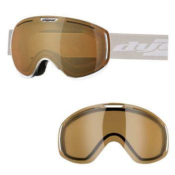 Skibrille, Snowboardbrille Dye Snow CLK White + Etui + Ersatzglas