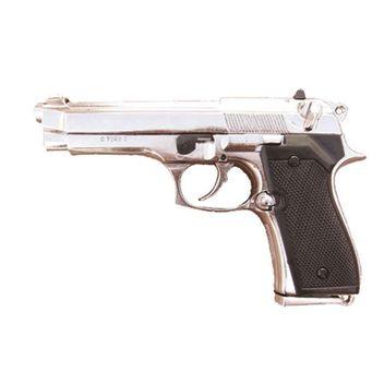 Deko Pistole Italien 1976 - silber (Deko Waffe)