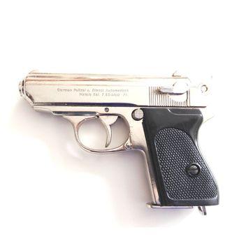 Deko Pistole Deutschland 1931 - silber (Deko Waffe)