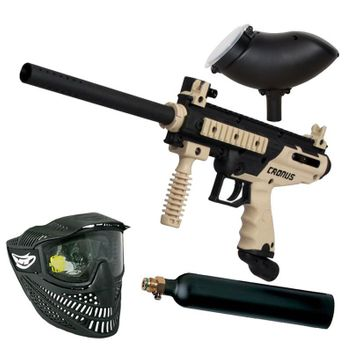 Tippmann Cronus Basic tan/black Paintball Set inkl. Loader 200
