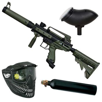 Tippmann Cronus Tactical Paintball Set inkl. Loader 200 - oliv