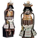 Samurai Warrior - brown/gold - Warloard Naoe Kanetsugu Shogun Samurai Suit of Armor Miniature