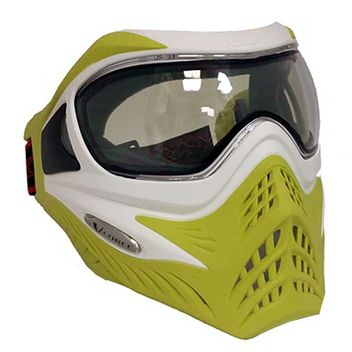 VForce Grill Paintball Mask Limited Thermal - White on Lime