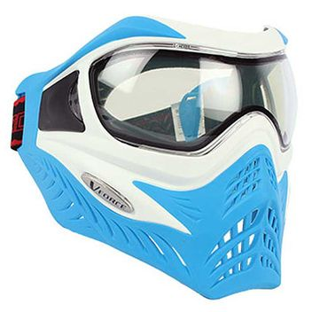 VForce Grill Paintball Mask Limited Thermal - white on blue