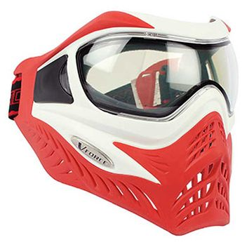 VForce Grill Paintball Thermal Maske Limited - White on Red
