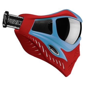 VForce Grill Paintball Mask Limited Thermal - Blue on Red