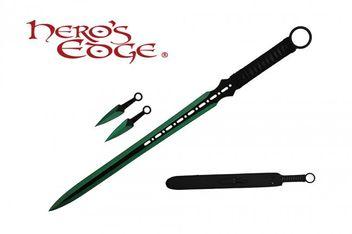Ninja Schwert mit 2 Kunai