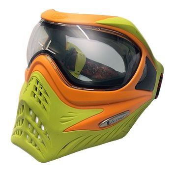 VForce Grill Paintball Mask Limited Thermal - Orange on Lime
