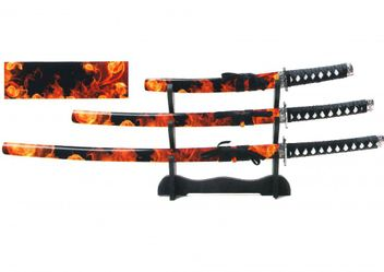 Samurai Schwerter Set Beni