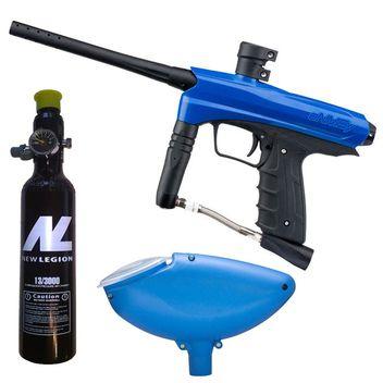 Kids Paintball Markierer cal.50 inkl. Loader und 0,2 Liter HP System - Blue Falcon