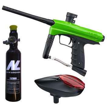Kids Paintball Marker cal.50 incl. Loader and 0,2 Liter HP System - Green Mamba