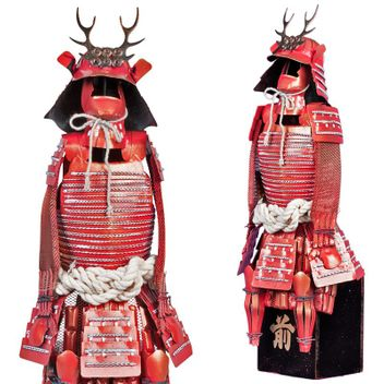 Samurai Warrior - Sanada Saemon-no-Suke Yukimura Armor statue - Samurai Suit of Armor Miniature