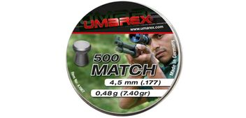 Umarex Match Flathead Pellets 4.5 mm - 500 pieces