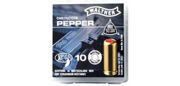 Walther Pfeffer-Gas Patronen 9 mm P.A.PV - 10 Stück