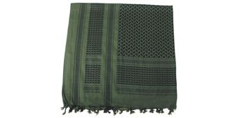 Shemagh / PLO cloth with Fringes - olive/black