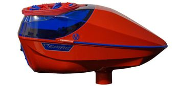 Virtue Spire 200 SE Paintball Loader - Gloss Red/Blue inkl. Crown 2.5