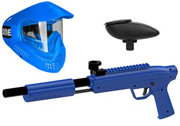Valken Kids Gotcha Gun inkl. Field #ONE Maske & Loader 120 - cal. 50, 0.5 J - blue