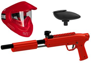 Valken Kids Gotcha Gun inkl. Field #ONE Maske & Loader 120 - cal. 50, 0.5 J - red