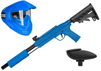 Valken Kids Tactical Gotcha Gun inkl. Field #ONE Maske & Loader 120 - cal. 50, 0.5 J - blue