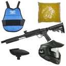 Valken Kids Tactical Gotcha Gun inkl. MI-3 Maske, Brustpanzer, Loader 120 & 500 Paintballs - cal. 50, 0.5 J - smoke