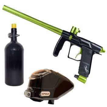 Valken Proton Paintball Package - Black Dust / Lime TT