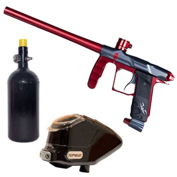 Valken Proton Paintball Package - Red / Grey