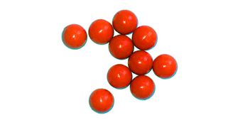 New Legion Rubberballs / Gummibälle cal.68 - 10 Stück - orange