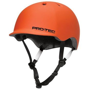 Pro-Tec Riot Street - Bike Skate Helm - matt orange, Größe:L