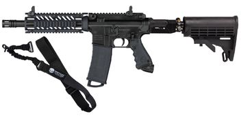 Tippmann TMC MagFed - black - inkl. Dynamic Sports Gear Air Stock System & Tragegurt