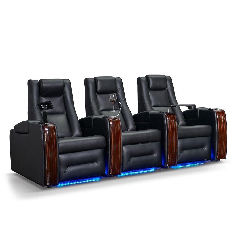 zinea kinosessel sci fi 3 sitzer echtleder elektrisch verstellbar led becherhalter. Black Bedroom Furniture Sets. Home Design Ideas